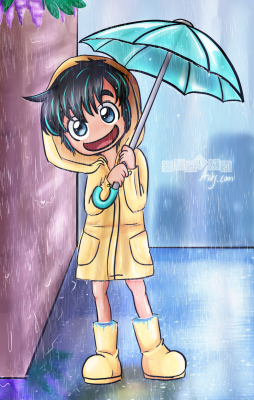 Sp00by in the Rain